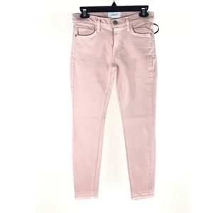 Current Elliott The Stiletto Pink Skinny Jeans